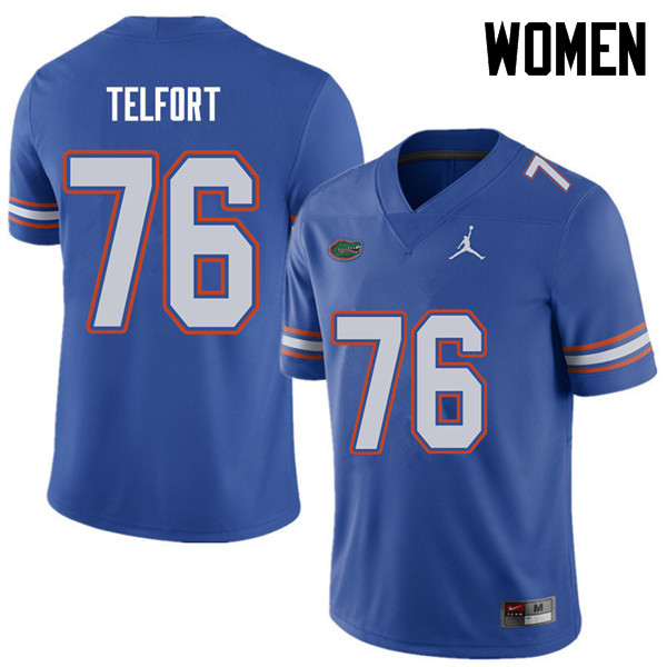 Jordan Brand Women #76 Kadeem Telfort Florida Gators College Football Jerseys Sale-Royal